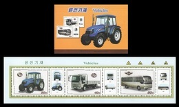 North Korea 2018 Mih. 6508/10 Automobile Transport. Tractor. Truck. Bus (booklet) MNH ** - Korea (Nord-)