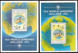 St Vincent - Gren,  Scott 2018 # 2167-2168,  Issued 1995,  2 S/S Of 1,  MNH,  Cat $ 11.50, Scouts - St.Vincent & Grenadines