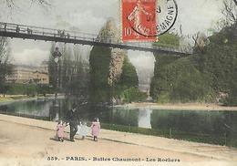 PARIS FRANCE  Les Buttes Chaumont 1907 - Parcs, Jardins