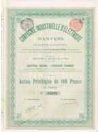 Titre Ancien - Compagnie Industrielle D'Electricité D'Anvers - Titre De 1900 - Elektriciteit En Gas