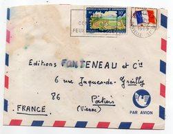 Nouvelle Calédonie-1969-Lettre NOUMEA Pour POITIERS-86(France)-affranchissement Mixte F.M+tp Sur Lettre-cachet Militaire - Briefe U. Dokumente