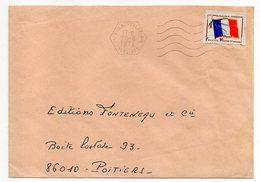 1972--Lettre De VILLACOUBLAY-AIR Pour POITIERS-86(France)-timbre F.M Seul Sur Lettre-cachet Hexagonal Mécanique - Marcophilie (Lettres)