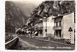 Val D'Aosta, Donnaz, Scorcio Panoramico, 1961 Used Real Photo, Vera Fotografia Postcard [22989] - Italy