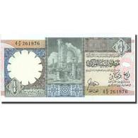 Billet, Libya, 1/4 Dinar, KM:52, NEUF - Libye