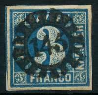 BAYERN QUADRATE Nr 2II GMR 145 Zentrisch Gestempelt Briefstück X87DFA6 - Bavaria