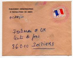 Poste Aux Armées-Lettre De L'Et Cinématographique Des Armées Pour POITIERS-86(France)-tp F.M Seul Sur Lettre-cachet Rond - Marcophilie (Lettres)