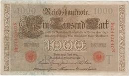 Alemania - Germany 1.000 Mark 21-4-1910 Pick 36.6 Ref 1 - [ 2] 1871-1918 : Imperio Alemán