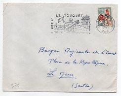 1965--Lettre De LE TOUQUET-62  Pour LE MANS-72--type Coq--flamme  ( Golf ) - Marcophilie (Lettres)