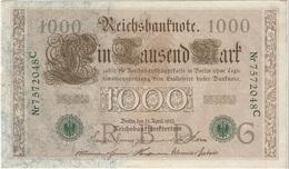 Alemania - Germany 1.000 Mark 21-4-1910 Pick 45.b Ref 3 - [ 2] 1871-1918 : Imperio Alemán