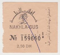 1423(6) MARRAKESH / MARRAKECH, Morocco / Marroc / Marruecos / Marocco.- Urban Bus Ticket (year / Année 2000). - Bus