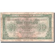 Billet, Belgique, 10 Francs-2 Belgas, 1943, 1943-02-01, KM:122, B - [ 2] 1831-... : Koninkrijk België