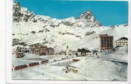 Valle D'Aosta, CERVINIA-BREUIL M. 2004, Panorama E M. Cervino M. 4484, Used Postcard [22996] - Italy