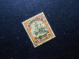 D.R.Mi 11  25Pf -  Deutsche Kolonien (Karolinen) 1900  Mi 16,00 € + Stempel Violett 25,00 € - Kolonie: Karolinen