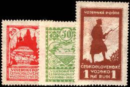 Czechoslovakia 1919-20 Military Post Set Lightly Mounted Mint. - Siberian Legion
