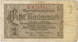 Alemania - Germany 1 Rentenmark 30-1-1937 Pick 173a 7 Dígitos - [ 4] 1933-1945 : Tercer Reich