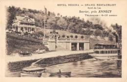 R166330 Hotel Regina. Grand Restaurant. Bord Du Lac. Sevrier Pres Annecy - Cartes Postales
