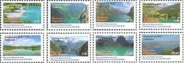 2018 Tajikistan Lakes, Rivers. STAMP 8v: 0.1, 0.2, 0.3, 0.4, 0.5, 2,3,20 - Tajikistan