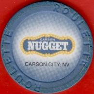 Roulette Casino Chip. Nugget, Carson City, NV. I08. - Casino