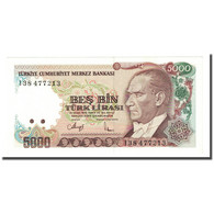 Billet, Turquie, 5000 Lira, L.1970, KM:198, NEUF - Turquia