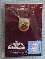 UKRAINE / Badge / POLAND / Pin. Football. Europe Championship. UEFA . EURO 2012. Sports Stadium. KYIV. - Fussball