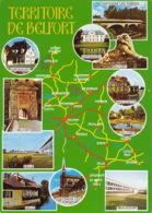 90 TERRITOIRE DE BELFORT Carte Map Plan Du Département  37 (scan Recto Verso)MF2758VIC - Belfort - Ville
