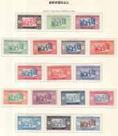 Sénégal 1922-26 Y&T N°72 à 86 - Michel N°72 à 86 * - Marché Indigène - Sénégal (1887-1944)