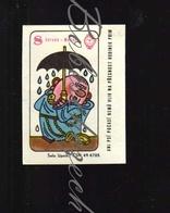 G21 CZECHOSLOVAKIA 1966 Name Day June 8 Medard Medardus Medard Hood 40 Days Of Rain  Klenoty Bijoux Jewelry Playing Card - Zündholzschachteletiketten