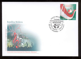 Moldova 2019 International Music Festival Martisor  FDC - Moldova