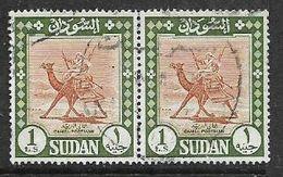 Sudan, 1962, £1, Camel Postman, Pair Used - Sudan (1954-...)