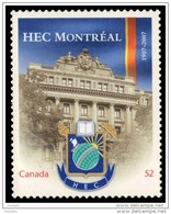 CANADA 2007, # 2209i,  HAUTES ETUDES COMMERCIALES OF MONTREAL QC. From Quartely Pack  MNH - Carnets