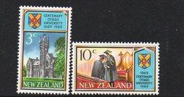 NEW ZEALAND, 1969 OTAGO UNIVERSITY 2 MNH - New Zealand