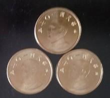 3x 2018  Taiwan 1 Yuan NT$1.00 Chiang Kai-shek CKS Coin - Taiwan