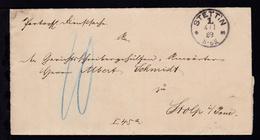 Stettin K1 STETTIN 1 *m 4.1.89 Auf Dienstbrief Des Oberlandesgericht Stettin - Deutschland