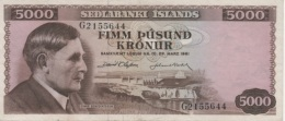 (B0577) ICELAND, L. 1961. 5000 Kronur. P-47a. XF - Iceland