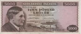 (B0577) ICELAND, L. 1961. 5000 Kronur. P-47a. XF - Islanda