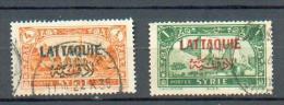 LATTA 10 - YT 6 Et 11 Obli - Lattaquié (1931-1933)