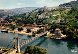 27 Les Andelys Vue Aérienne Le Pont Chateau Gaillard La Piscine (2 Scans) - Les Andelys