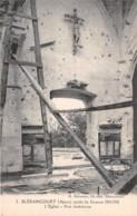 BLERANCOURT Apres La Guerre 1914 1918 L Eglise Vue Interieure 13(scan Recto-verso) MA415 - France