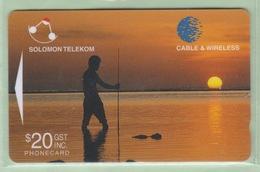 Solomon Island - 1998 Sixth Issue - $20 Sunset - SOL-22 - FU - Solomon Islands