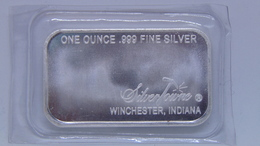 Silver Towne Mint 1 Troy Oz .999 Fine Silver Bar Prospector - Coins & Banknotes