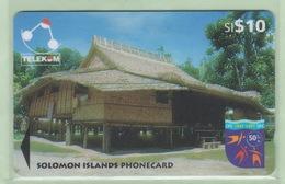 Solomon Island - 1997 Native Huts - $10 Sigana Village - SOL-17 - VFU - Salomon