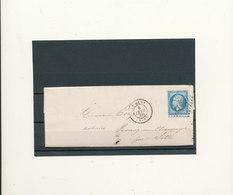 N°22 VARIETE PIQUAGE SUR LETTRE - 1862 Napoleon III