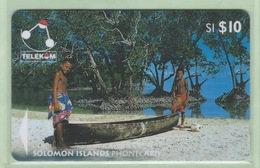 Solomon Island - 1996 Canoes - $10 Sikaiana - SOL-13 - VFU - Solomon Islands