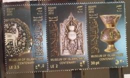E24 - Egypt 2010 MNH Complete Set 3v. - Museum Of Islamic Art Centenary - Unused Stamps