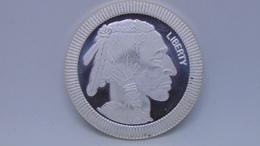 Indian Head/Buffalo Silver Bullion Round - 1 Oz. Fine Silver 999 - Coins