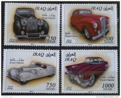 Iraq NEW 2015 Issue - ROYAL CARS Complete Set - Classic Cars Of The Kings Of Iraq - MNH - Iraq