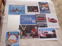 LOT DE 10 CARTES PUBLICITE AUTOUR DES VOITURES...AUTOMOBILES - Cartoline