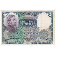 Billet, Espagne, 50 Pesetas, 1931, 1931-04-25, KM:82, TTB - [ 1] …-1931 : Prime Banconote (Banco De España)