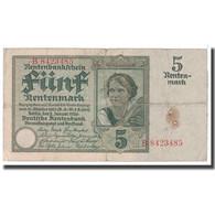 Billet, Allemagne, 5 Rentenmark, 1926, 1926-01-02, KM:169, TB - [ 3] 1918-1933 : Repubblica  Di Weimar