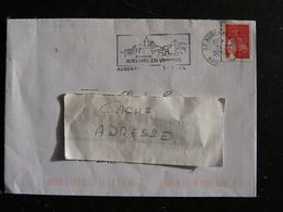 AUBENAS CDIS - ARDECHE - FLAMME EN VIVARAIS SUR MARIANNE BRIAT - Poststempel (Briefe)